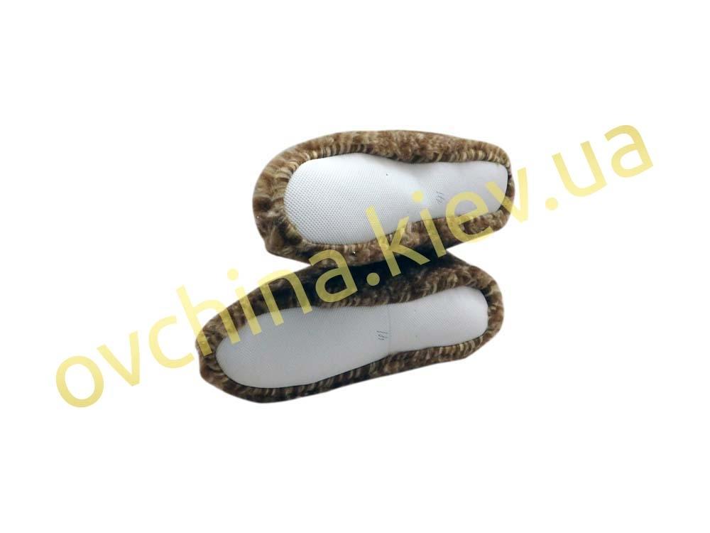 Чуни женские из шерсти мериносовой овчины с узором «Олени» /вариант 1/ - 5