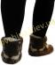 Чуни женские из шерсти мериносовой овчины с узором «Олени» /вариант 1/ - 1