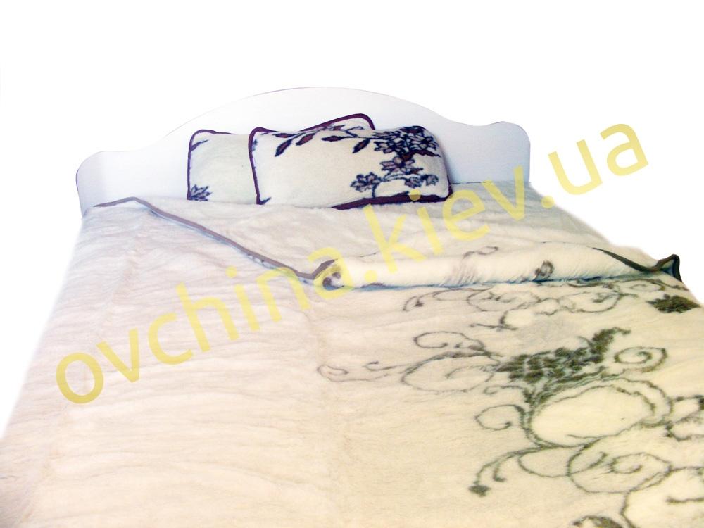 Двухспальный плед из овечьей шерсти /Alwero/