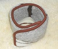 Пояс согревающий двухслойный из овечьей шерсти