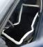 Накидка на сиденье автомобиля из натурального меха овчины (мутона) черная с белой каймой